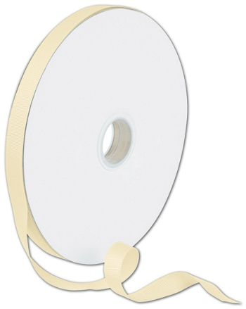 Grosgrain Cream Ribbon, 5/8