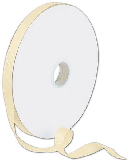 "Grosgrain Cream Ribbon, 5/8"" x 100 Yds"