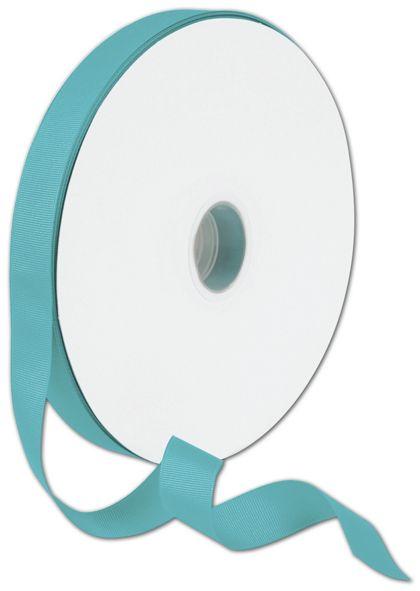 "Grosgrain Turquoise Ribbon, 7/8"" x 100 Yds"