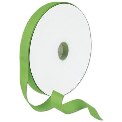 "Grosgrain Apple Green Ribbon, 7/8"" x 100 Yds"