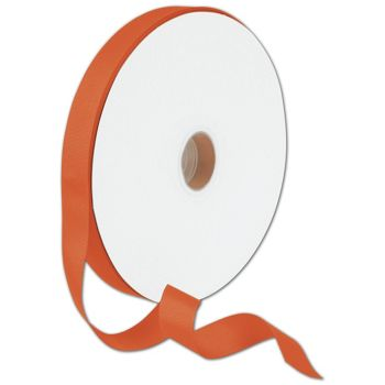 Grosgrain Orange Ribbon, 7/8