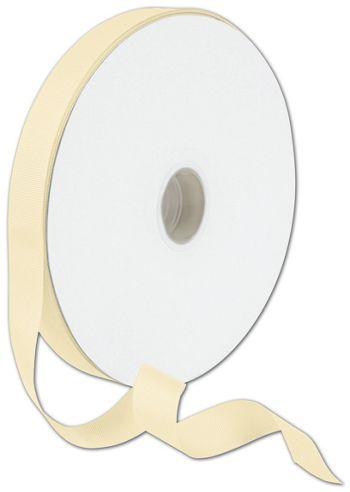 Grosgrain Cream Ribbon, 7/8