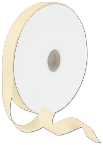 "Grosgrain Cream Ribbon, 7/8"" x 100 Yds"