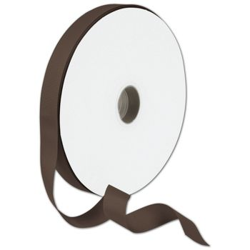 Grosgrain Chocolate Ribbon, 7/8