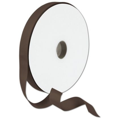 "Grosgrain Chocolate Ribbon, 7/8"" x 100 Yds"