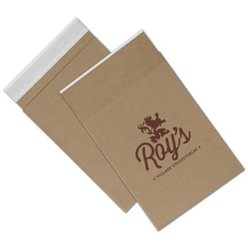 Natural Kraft Printed Eco-Mailers, 1 Color, 8 3/4 x 12