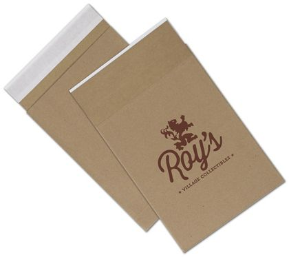 Natural Kraft Printed Eco-Mailers, 1 Color, 8 3/4 x 12""