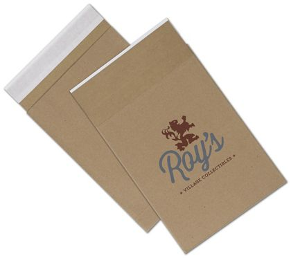 Natural Kraft Printed Eco-Mailers, 2 Colors, 8 3/4 x 12""