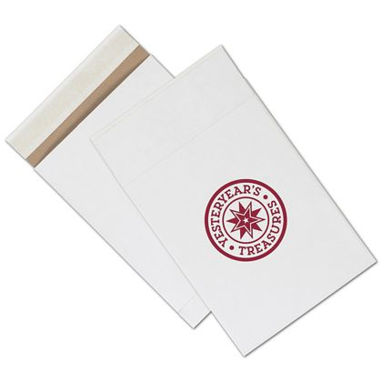 White Printed Eco-Mailers, 1 Color, 8 3/4 x 12""