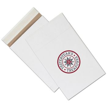 White Printed Eco-Mailers, 2 Colors, 8 3/4 x 12