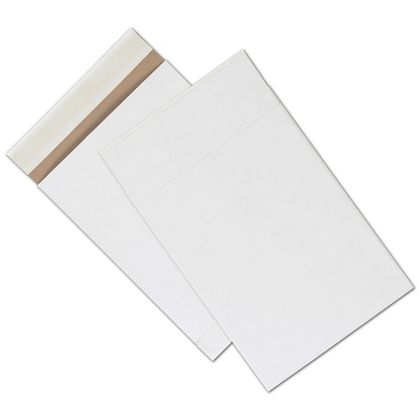 White Unprinted Eco-Mailers, 8 3/4 x 12""