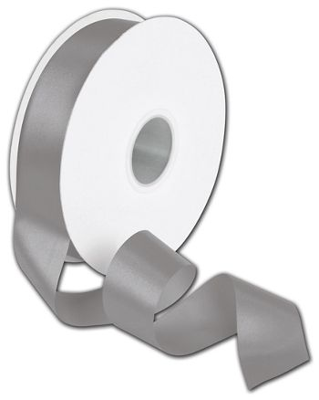 Double Face Pewter Satin Ribbon, 1 1/2