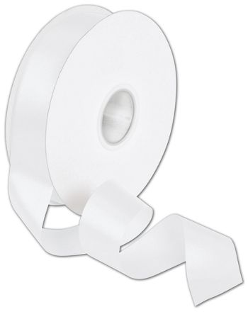Double Face White Satin Ribbon, 1 1/2