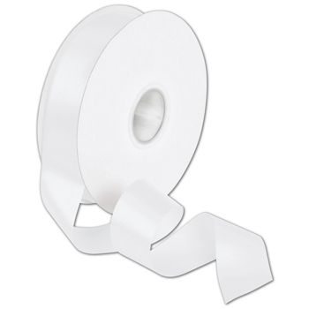 "Double Face White Satin Ribbon, 1 1/2"" x 50 Yds"