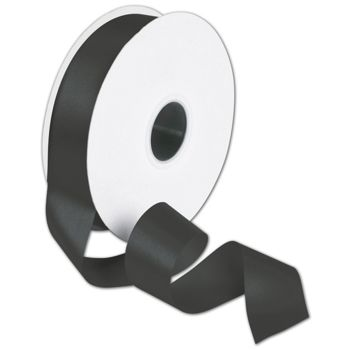 Double Face Black Satin Ribbon, 1 1/2