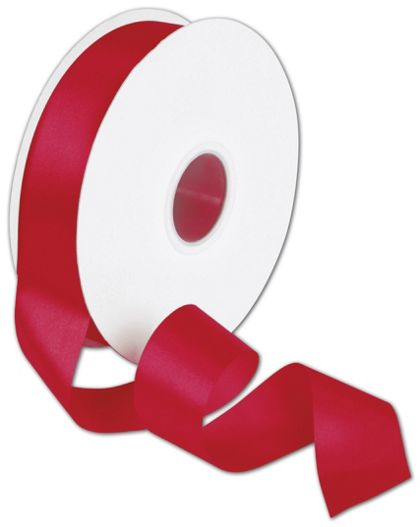 "Double Face Red Satin Ribbon, 1 1/2"" x 50 Yds"