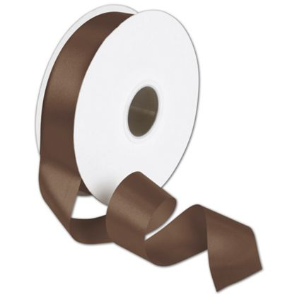 "Double Face Chocolate Satin Ribbon, 1 1/2"" x 50 Yds"