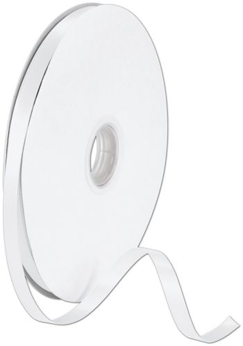 Double Face White Satin Ribbon, 3/8