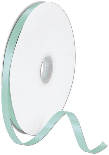 """Double Face Tiffany Blue Satin Ribbon, 3/8"""" x 100 Yds"""