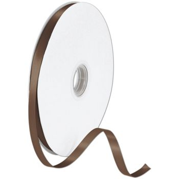 Double Face Chocolate Satin Ribbon, 3/8