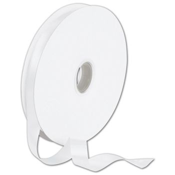 Double Face White Satin Ribbon, 5/8