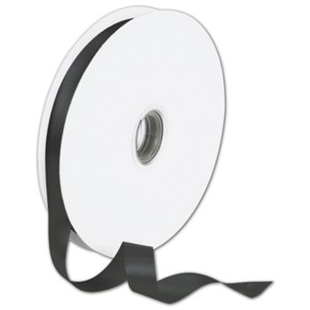 Double Face Black Satin Ribbon, 5/8
