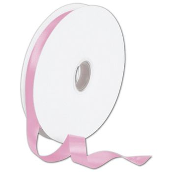 Double Face Pink Satin Ribbon, 5/8