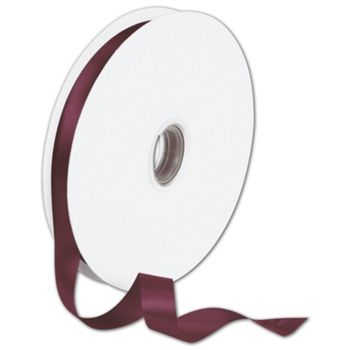 Double Face Burgundy Satin Ribbon, 5/8