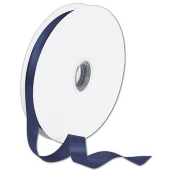 Double Face Navy Satin Ribbon, 5/8