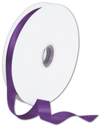 Double Face Purple Satin Ribbon, 5/8
