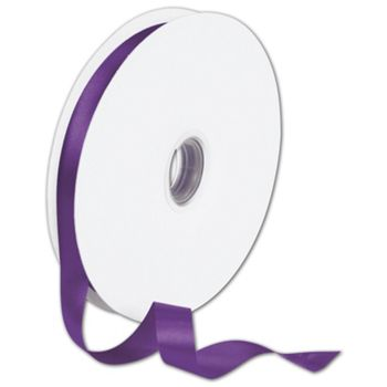 "Double Face Purple Satin Ribbon, 5/8"" x 100 Yds"