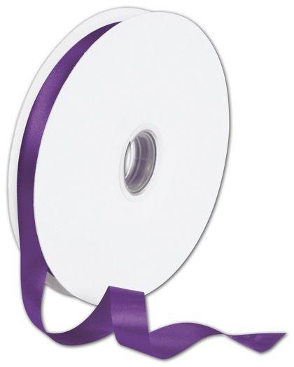 "Double Face Purple Satin Ribbon, 5/8"" x 100 Yds"