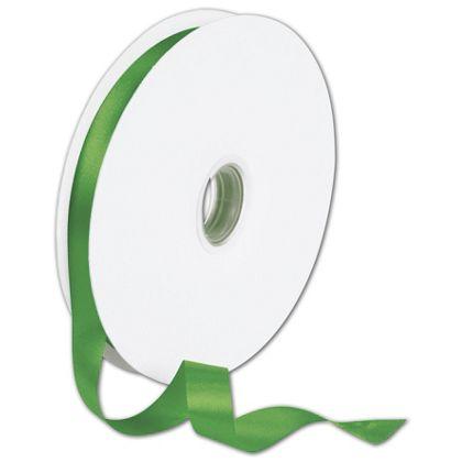 "Double Face Emerald Green Satin Ribbon, 5/8"" x 100 Yds"
