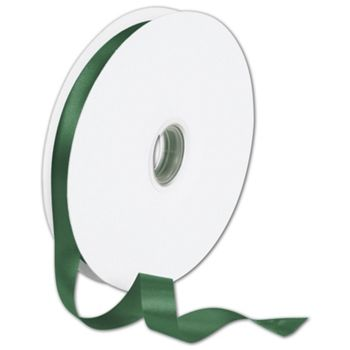 Double Face Forest Green Satin Ribbon, 5/8