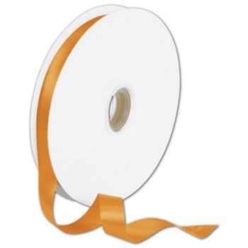 Double Face Orange Satin Ribbon, 5/8