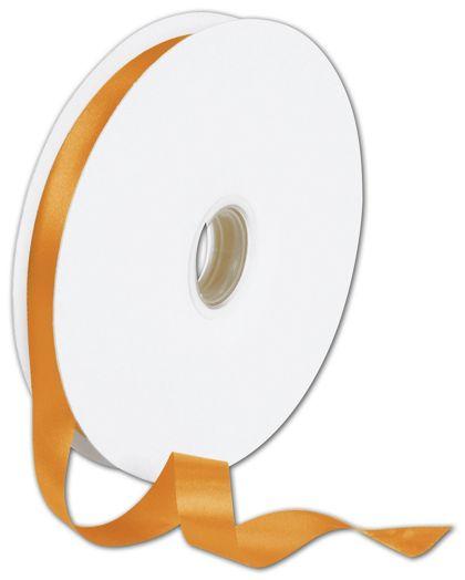 "Double Face Orange Satin Ribbon, 5/8"" x 100 Yds"