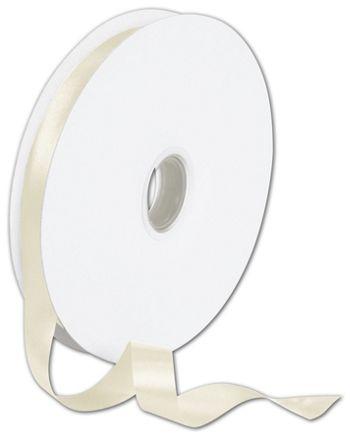 Double Face Cream Satin Ribbon, 5/8