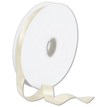 "Double Face Cream Satin Ribbon, 5/8"" x 100 Yds"