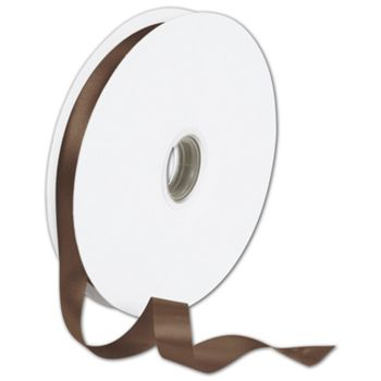 "Double Face Chocolate Satin Ribbon, 5/8"" x 100 Yds"