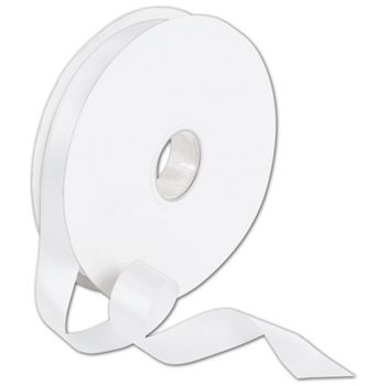 Double Face White Satin Ribbon, 7/8