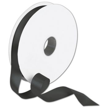 Double Face Black Satin Ribbon, 7/8