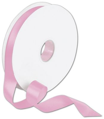 Double Face Pink Satin Ribbon, 7/8