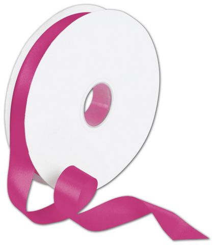 "Double Face Shocking Pink Satin Ribbon, 7/8"" x 100 Yds"