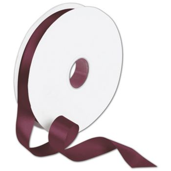 Double Face Burgundy Satin Ribbon, 7/8