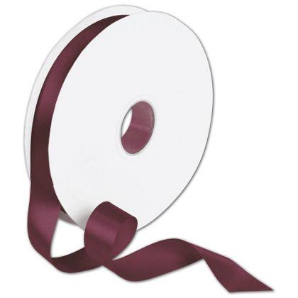 "Double Face Burgundy Satin Ribbon, 7/8"" x 100 Yds"