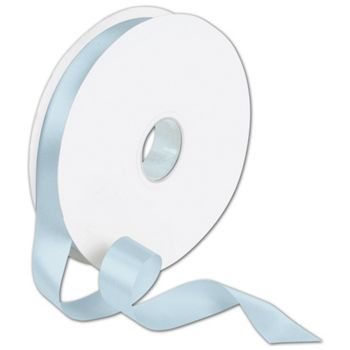 Double Face Light Blue Satin Ribbon, 7/8