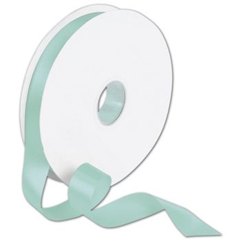 Double Face Tiffany Blue Satin Ribbon, 7/8