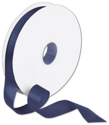 Double Face Navy Satin Ribbon, 7/8