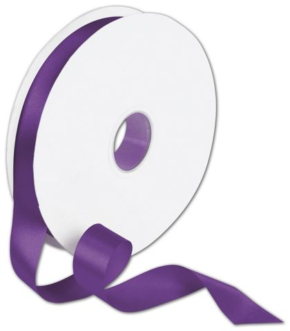 "Double Face Purple Satin Ribbon, 7/8"" x 100 Yds"