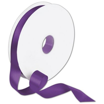 "Double Face Purple Satin Ribbon, 7/8"" x 100 Yds"